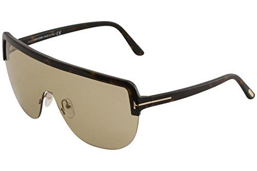 Tom Ford Men's Angus-02 TF560 TF/560 52E Havana Fashion Shield Sunglasses - Shield Tom