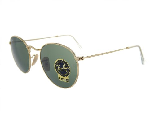 Ray Ban Round Metal RB3447 001 Gold/Green Classic 50mm - 001 Rb3447