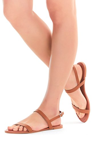 Womens Sandals, Double Strap, Open Toe Flat Summer Sandals f