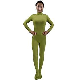 - 31dWmw1u72L - Ensnovo Womens Lycra Spandex Zentai Suits One Piece Footed Unitard