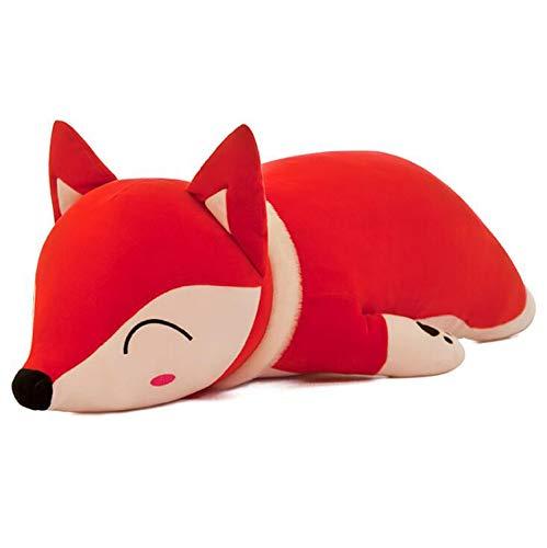 Smilesky Plush Fox Hugging Animal Pillows Stuffed Animal Toys Gifts for Kids Red 13
