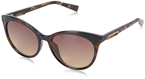 Calvin Klein Women's R731S Cateye Sunglasses, Dark Tortoise, 53 - Sunglasses Calvin