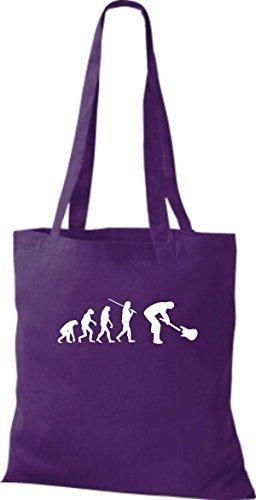 Shirtinstyle - Bolso de asas de algodón para hombre Púrpura - morado