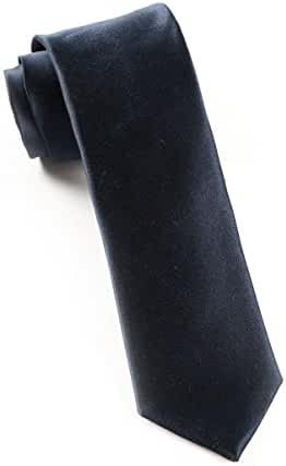 The Tie Bar 100% Woven Silk Midnight Navy Solid Satin Tie