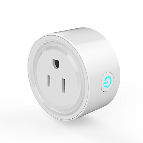 Smart Plug, VIFLYKOO Wireless Outlet WiFi Plug US Socket, No Hub Required, Wi-Fi Mini Smart Plug Socket Outlet Works with Amazon Alexa, Remote Control your Devices from Anywhere by VIFLYKOO