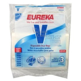 1 X Package of 3 Genuine Eureka Style V Bags