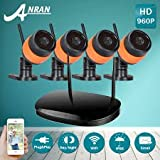 ARSECUT 4PCS 960P Wireless Outdoor IP Camera System 65ft (25m) Night vision