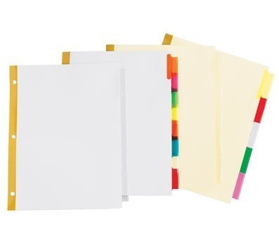 OfficeMax Insertable Dividers, 5 tab/set, White by OfficeMax