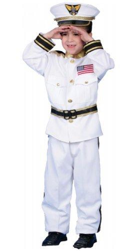 Navy Admiral Costume - Child Costume deluxe - Large (12-14) by (Deluxe Kid's Navy Admiral Costumes)