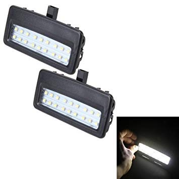 Uniqus 2 PCS White Light Car LED Vanity Mirror Lamp Lights with 18 SMD-3528 Lamps for BMW F10   F11   F07   F01   F02   F03   F04