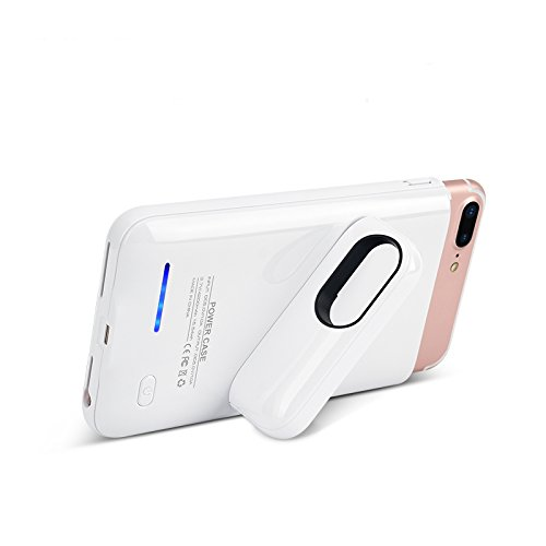 iPhone 8 Plus Battery Case, BBtech Case for iPhone 8 Plus 2017 4200mAh Rechargeable Juice Charging Case Portable Extended Backup Power Cover [Not Support Wireless Charger] with Magnet (White) by BBtech