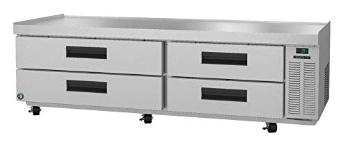 Hoshizaki CRES85, Refrigerator, Two Section Equipment Stand Prep Table, Stainless Drawers