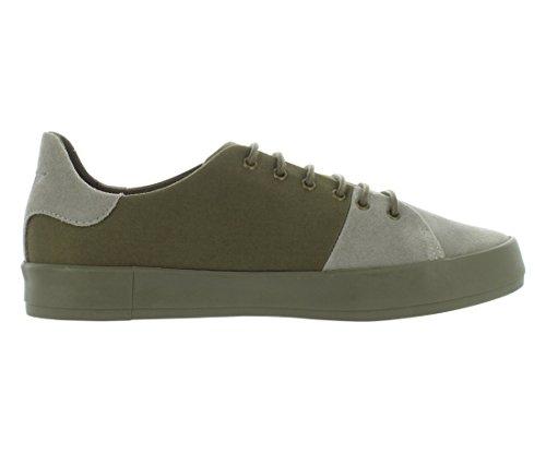 Ricreazione Creativa Mens Carda Moda Sneaker Militare Grigio Di Base