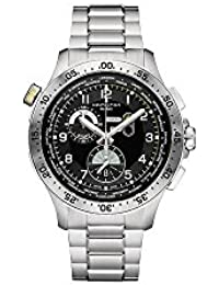 Men's Swiss Quartz Stainless Steel Casual Watch, Color:Silver-Toned (Model: H76714135)