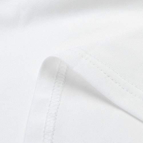 Swag Femme Chemisier en Femme White Col Veste Sweat Fronc Manches Longue V Manche Blouse Shirt Solide Longues Femmes Mode T Femme Femme Femme Sexy Femme Body Top Shirt Chic Polo wfqUX1