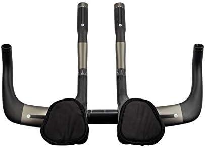 自転車のハンドルバー 自転車TTハンドルバーエアロバートライアスロンタイムトライアルトライサイクリング31.8mmバイク用ハンドルバー(バイクエアロバー用) 自転車中層ハンドルバー (色 : Matte, サイズ : 400mm)