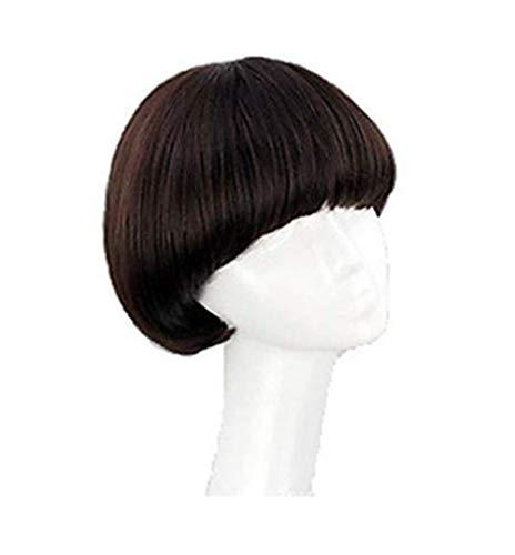 Womens Short Full Bang Wig Mushroom Hairstyle Cosplay/daily Hair Wig