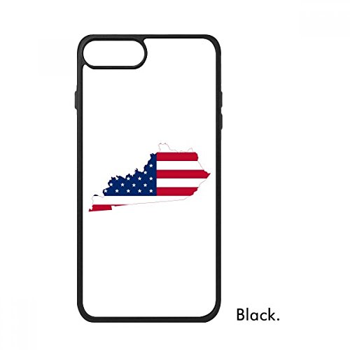Kentucky USA Map Stars Stripes Flag Shape For iPhone 8/8 Plus Cases Phonecase Apple Cover Case Gift