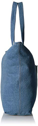 Moschino Woman Borsa blu Blue Denim Love Handbag InRxpdqI5Z