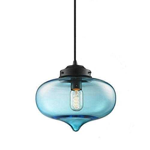 Aqua Glass Pendant Light in Florida - 5