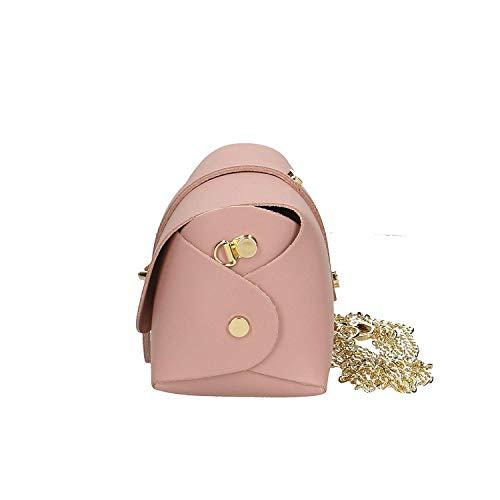 Piel Bandolera color Mujer En Brilliant Tamaño 18x11x9 Bolso Pink Italy Made Cm Pequeño Pink Genuina Ancient In qAFwnxI5