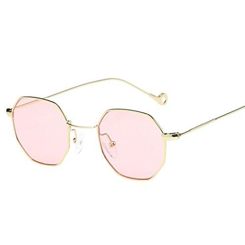 Misaky Classic Unisex Summer Vintage Retro Round Gradient Color Glasses Sunglasses (T_Pink, - Color Custom Sunglasses