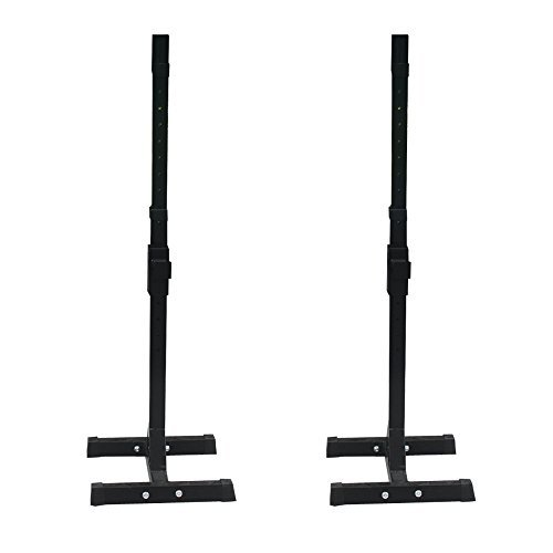 Smartxchoices Barbell Stand Adjustable Solid Steel Barbell Stand Pair of Barbell Racks Home Gym Portable Dumbbell Racks (one pair/two pcs)