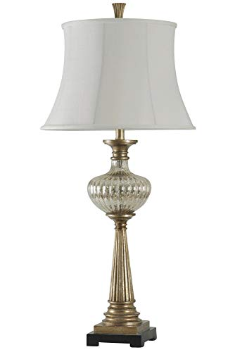 Delacora SC-DE-A218 Firenze 38'' Tall Buffet Table Lamp with Softback Fabric Shade from Delacora