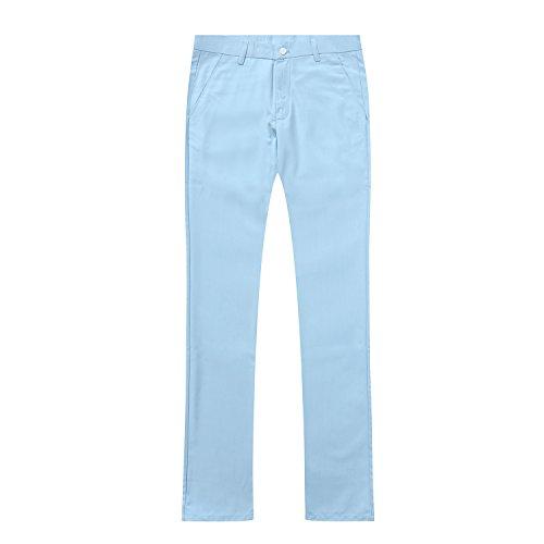 Veste En Et Cérémonie Fit Homme D'affaire Pièce Deux Pantalon Mariage Slim Clair Costume Bleu qXnYfHZq