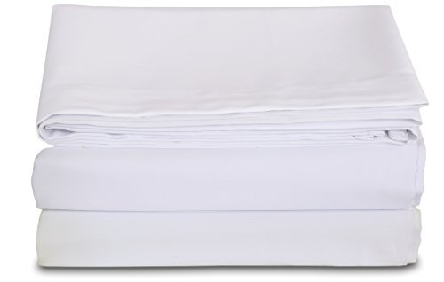 Excellent Deals Flat Sheet (Twin, White) - 2 Inches Self Hem - brushed microfiber - super soft breathable and comfortable, Easy Iron - wrinkle free, fade and stain resistant bed sheet by