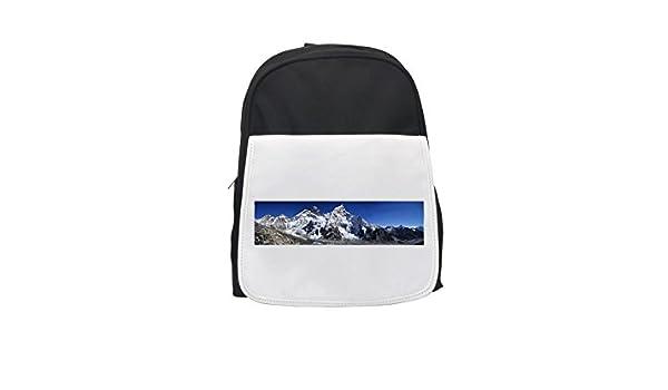 Mount Everest, Himalayas, Nuptse, Lhotse Mochila infantil estampada, mochilas lindas, mochilas pequeñas, lindas mochilas negras, mochila negra, mochilas de ...