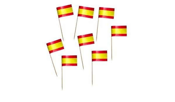 500 Banderas España decoración aperitivos, meriendas, eventos ...