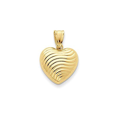 14K Yellow Gold Reversible Heart Pendant - Reversible Heart Bracelet Shopping Results