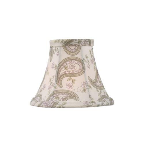 Livex Lighting S321 Shades Paisley Design Silk Bell Clip Shade -
