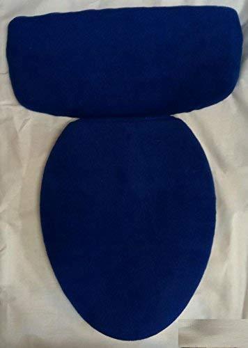 Blue Navy Plush Fleece Fabric COVER Toilet Seat Lid or Tank Top or (Toilet Seat Lid and Tank Top) - Lynn Cover