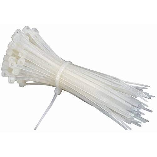 CONTACT Assorted 6 inch Nylon Cable Ties Tie Wire Organiser Ties 100 Pieces (White)