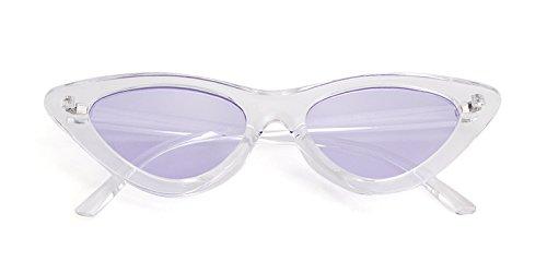 sol Marco ojo retro de mujeres estilo sol Gafas Púrpura de Kurt niñas de gafas Gafas Blanco 1 protección Transparente de ADEWU Lente para Cobain gato de vintage AtqxTgInaw