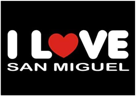 Teeburon I Love San Miguel Pack De Pegatinas X4 6