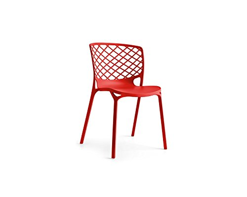 Gorgeous Indoor/Outdoor stackable red chair