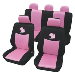 Suitable For Seat Terracotta Covers Pink Hippo Black Car Cover
