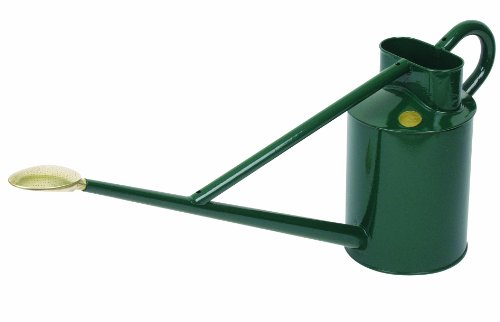 Haws Professional Outdoor Metal Watering Can, 2.3-Gallon/8.8-Liter, Green