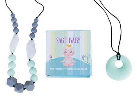 Best Silicone Teething Necklace +FREE Pendant Gift Box Set Natural Organic for Baby Infant Boys Girls ()