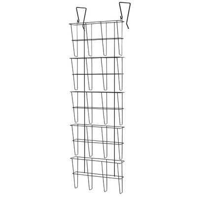 Buddy Products Wire Ware 5 Pocket Literature Rack, Legal ...