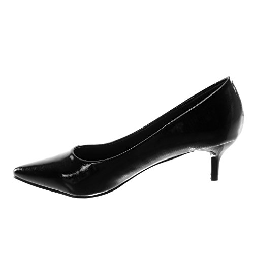 Angkorly Con Donna Alto Tacco Scarpe Moda on Verniciato Decollete Nero Stiletto Coccodrillo 5 Slip Cm 5 SxgSr