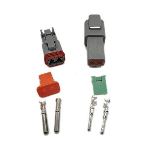 16/AWG DT06 1/Kit de jeux de Deutsch DT 2/broches plug connecteur /étanche fil /électrique pour 22 2S DT04 2P