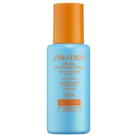 Shiseido Ultimate Sun Protection Lotion Broad Spectrum SPF 50+ WetForce for Sensitive Skin & Children deluxe sample by Shiseido