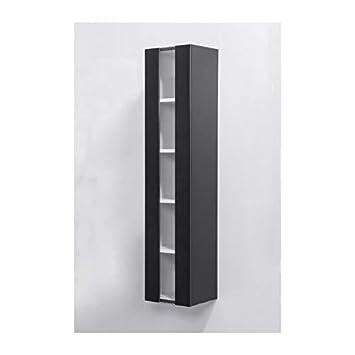 LOUNGITUDE Colonne de Salle de Bain ALBAN L 25 cm - Noir ...