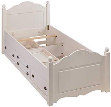 ACTUAL DIFFUSION Windsor Cama Infantil con 4 cajones/somier Madera 99 x 203 x 100 cm, Madera, Blanco, 99x203x100 cm