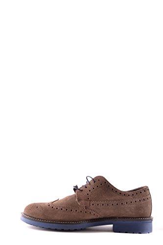 Daim Marron Hommes Trussardi Chaussures À Lacets
