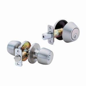 Defiant Brandywine Keyed Entry Knob with Deadbolt Stainless
